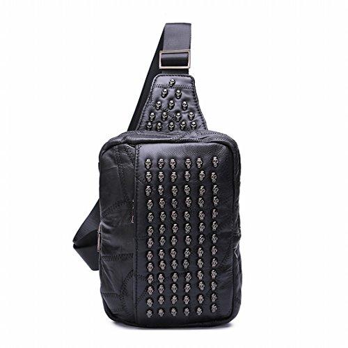 Retro Nieten Schulter Schräge Taschen Mode