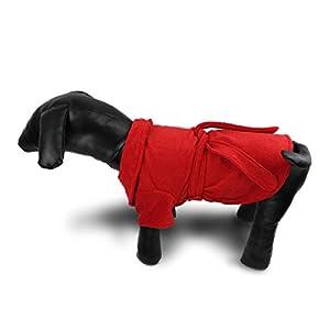 Lovely Elegant Dog Pajamas Pet bathrobe Dog Nighty Winter Soft Pet Pajamas Indoor Apparel for Dogs (M, Red)