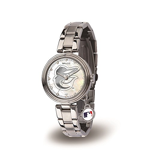 Mlb Baltimore Orioles Charm (MLB Baltimore Orioles Charm Watch, Silver)