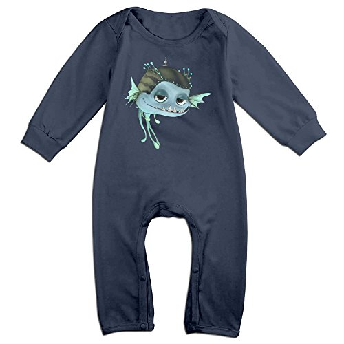 OLGB Babys Cartoon Cute Fish Long Sleeve Bodysuit Outfits 6 M