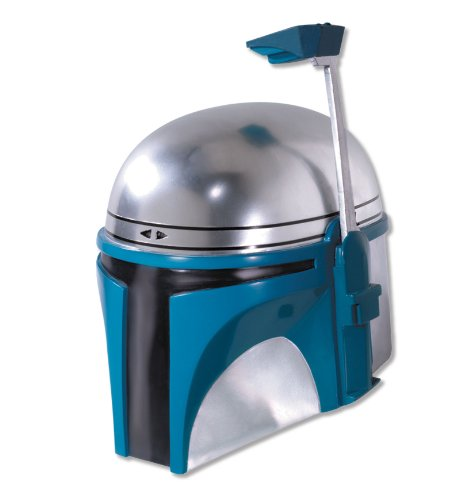 Rubie's Costume Men's Star Wars Deluxe Injection Molded Adult 2-Piece Jango Fett Mask, Multicolor, One Size (Fett Helmet)