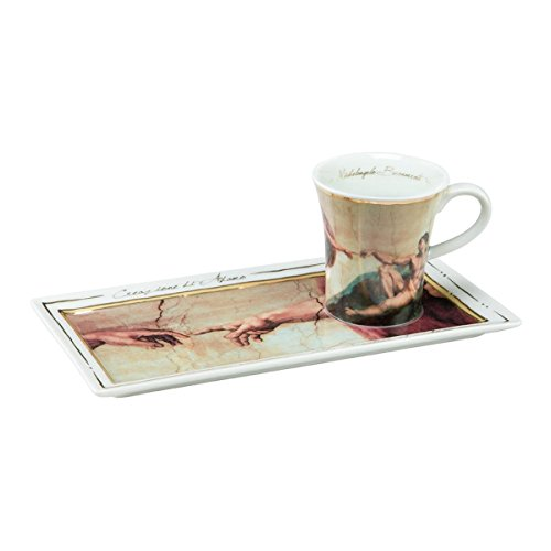 Michelangelo - Coffee Cup and Platter - The Creation of Adam ()