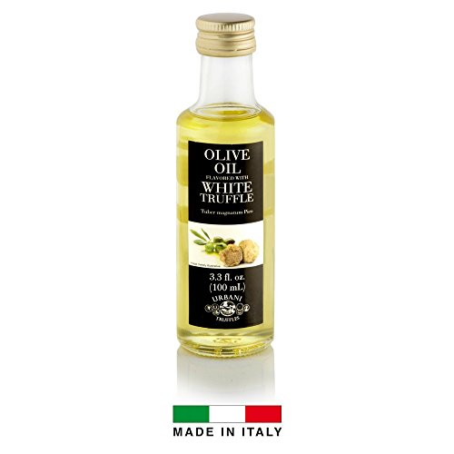 (White Truffle Infused Olive Oil - 3.4 oz - By Urbani Truffles. Infused Truffle Olive Oil 100% Made In Italy With Natural Aroma (NO Artificial Flavor). Truffle Flavor Perfect For Fish, Pasta, Meat)