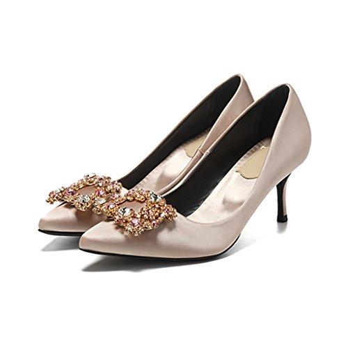 pour Mariage Sunny sur Extrême Les Robe Le Mode Main Fête Chaussures Femmes Champagne Haute 6cm Fait xRAYqpRw