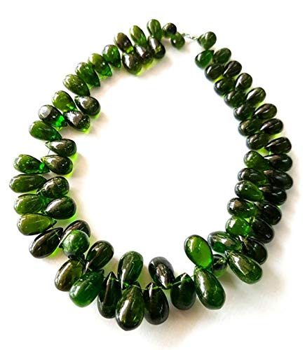 - 50% Off Kalisa Gems Amazing Brand New Natural Chrome Diopside Gemstone Smooth Drop Shaped briolettes Size - 3.5x6 mm - 5.5x11 mm 8 inch Strand