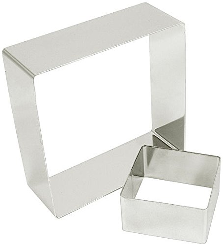 Fat Daddio's Stainless Steel Square Cake and Pastry Ring, 4.25 Inch x 2 Inch by Fat Daddios