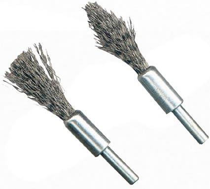 cepillo de alambre de acero Vogueing Tool juego de ruedas de pulido para herramienta rotativa broca 3 modos Juego de cepillos de alambre de acero plateado