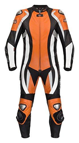 XLS Lederkombi hochwertiger Einteiler in Orange Motorradkombi einteilig