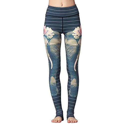 TERODACO Over The Heel Yoga Pants Women Printed Stirrup Pants High Waist Yoga Leggings For Sale