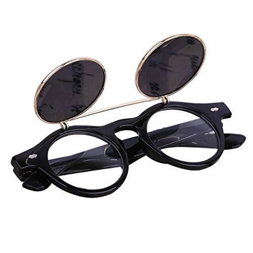 iNoDoZ Vintage Classic Flip Up Round Sunglasses Steampunk Goth G3 4gles Glasses Retro