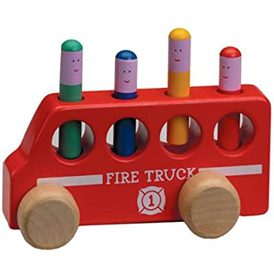 The Original Toy Company Pop Up Fire Truck: Toys & Games