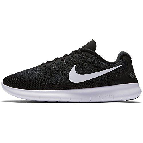 Chaussures Nike Hommes Course gris Fonc Noir De Free Running Blanc qFtpw
