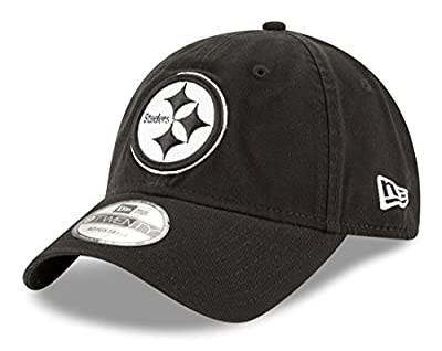 Pittsburgh Steelers New Era NFL 9Twenty Core Classic Twill Adjustable Black Hat from New Era