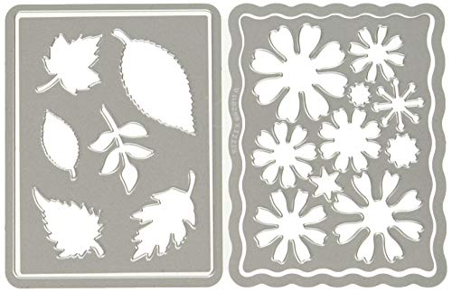 Eileen Collection - Sizzix Thinlits Die Set 4PK - 662811 Flowers and Leaves Journaling Cards by Eileen Hull