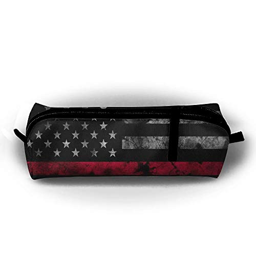sport outdoor 003 HTSS Thin Red Line Firefighter Flag Pencil-box Pouch Pencil Holders Pencil Pen Casewith Zipper Stationery Bag Sewing Kit