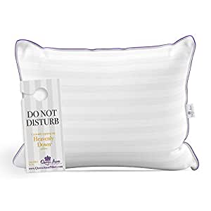 Luxury Hotel Pillow - Majesty Synthetic Down - Allergy Free Hypoallergenic Bed Pillow by Queen Anne Pillow - USA Made (Queen Medium)