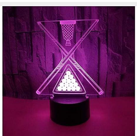 Color Toque Led Billar 3D Lámpara Visual Interruptor Táctil Usb ...
