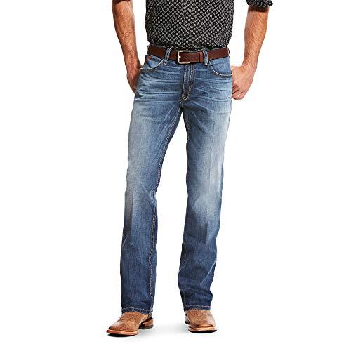 - ARIAT Men's M4 Low Rise Single Arch Tekstretch Boot Cut Jean Blue Ridge Size 44W X 32L