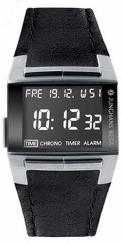 Junghans Mega 1000 026/4511.00 - Reloj de caballero de cuarzo, correa de acero