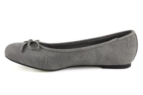 Machado Andres Ballerines Pull Grey leather TG104 vprgUnqdv