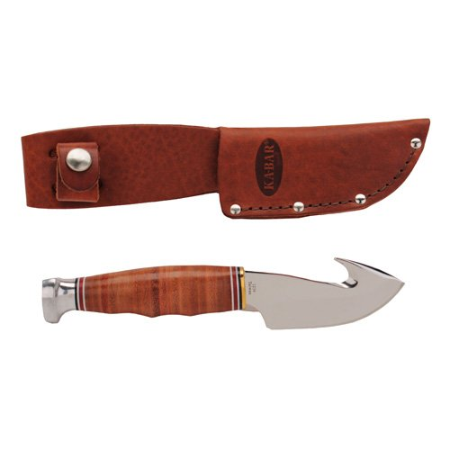 Game hook-stacked leather handle,leather sheath -