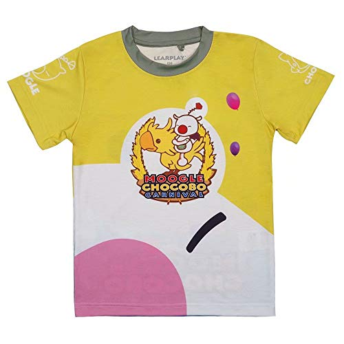 Learplay FF15 Moogle Chocobo Yellow Funny T Shirt Halloween Costumes for Adult