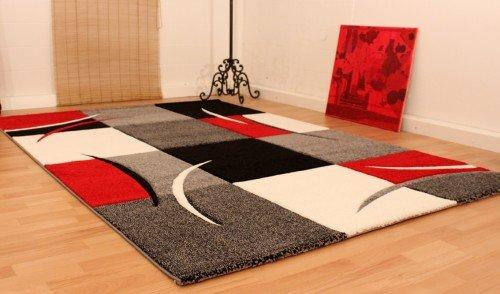 tapis salon rouge et noir. Black Bedroom Furniture Sets. Home Design Ideas