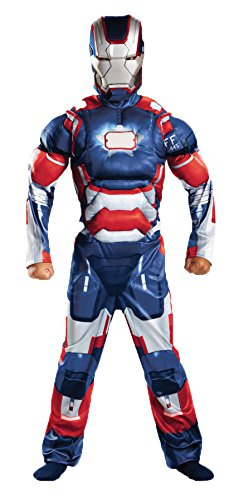 Child Muscle Iron Patriot Costumes (UHC Boy's Iron Patriot Classc Muse Outfit Child Fancy Dress Halloween Costume, Child L (10-12))