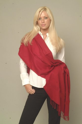Scarf/Shawl/Wrap/Stole/Pashmina Shawl in solid color from Cashmere Pashmina Group (Regular Size)