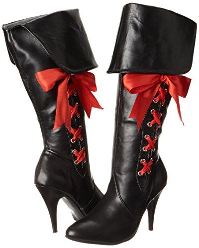 Botas Mujer Ellie Zapatos 418 Black Polyurethane Negro nbsp;Pirata Slouch CSwZwxqX