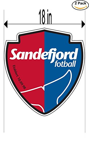 fan products of Sandefjord Norway Soccer Football Club FC 2 Stickers Car Bumper Window Sticker Decal Huge 18 inches