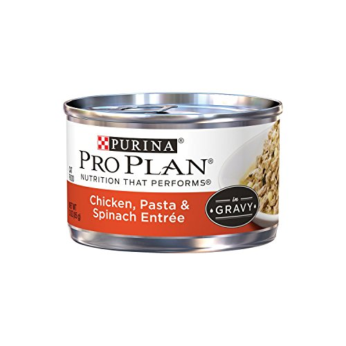 Purina Pro Plan Adult Chicken Pasta & Spinach Entree in Gravy Adult Wet Food - (24) 3 oz. Can