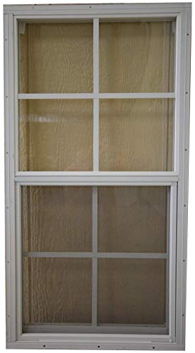 SHED PLAYHOUSE WINDOW-18X36-WHITE-J-LAP by OUTDOOR PLAY AND STORAGE