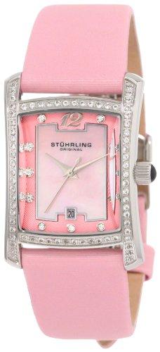 Stuhrling Original Women's 145CL.1215A9 Ladies Classique Gatsby La Femme Swiss Quartz Satin Leather Strap Watch