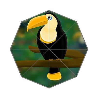 Parapluie pliant léger avec oiseau sur le Motif arbre
