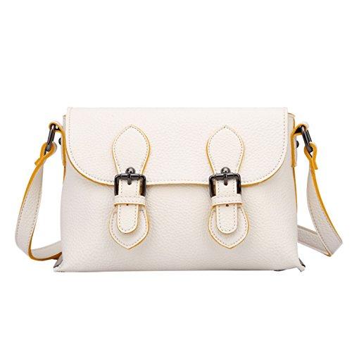 Closure Double Clutch Women's White Handbag Magnet Yiji w15qUHFtx5