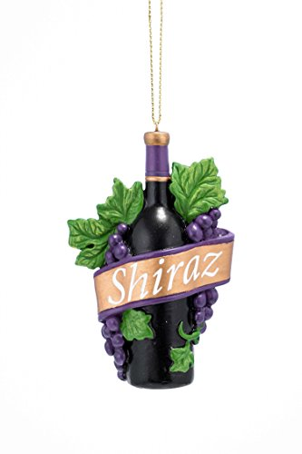(JWM Collection Shiraz Wine Bottle 3.5 Inch Resin Christmas Ornament)