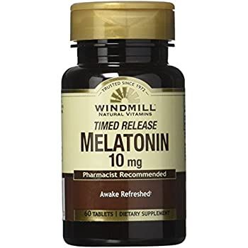 Windmill Melatonin Tabs, 10 mg, T/R Wmill 60