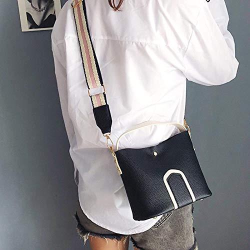 Sac à bandoulière Voyage à bandoulière magnétique Girl Black à Alexsix pour Téléphone Boucle Mode bandoulière Mobile Lady PU Sac YnZ0XZ8Hq