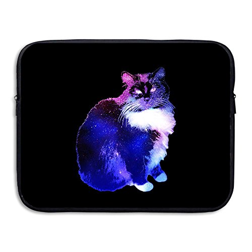 Starry Night Sky-cat Briefcase Handbag Case Cover For 13-15 Inch Laptop, Notebook, MacBook Air/Pro