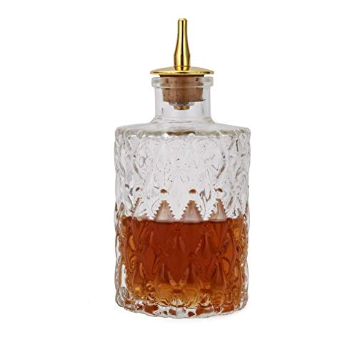 (Bitters Bottle - Jewel Bitter Bottle For Cocktail, 6oz / 175ml, Glass Dahs Bottle With Stainless Steel Dasher Top - DSBT0011 (6oz/175ml))