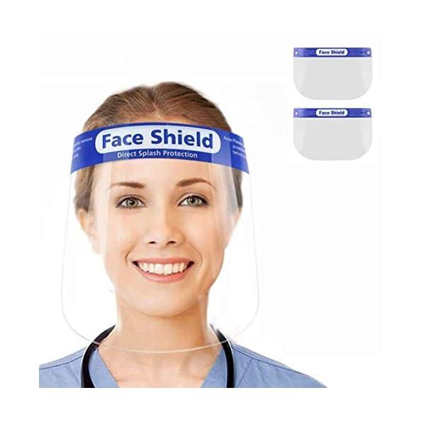 2-Stck-Gesichtsschutz-aus-Kunststoff-Gesichtsschild-Schutzschild-Schutzvisier-Visier-Transparent-Anti-Saliva-Anti-Fog-Splash-fr-Damen-Herren