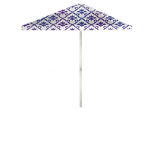 Best of Times Garden Party Patio Umbrella, 8′, Purple/White Review