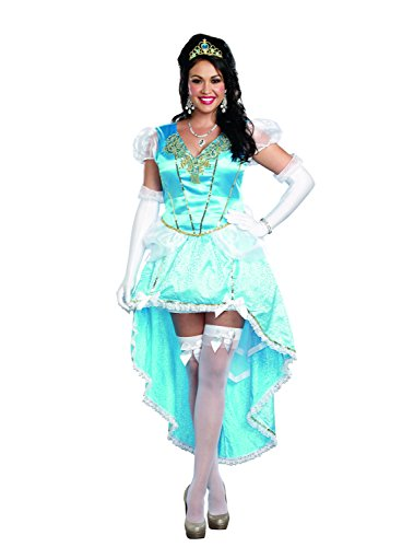 (Dreamgirl Women's Plus-Size Fairytale Ball Gown Costume, Blue,)