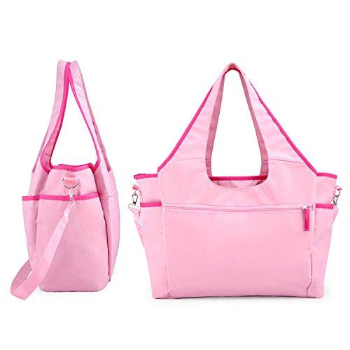 Resistente al agua Mummy bolso bebé pañales para pañales bolso cambiador rosa rosa