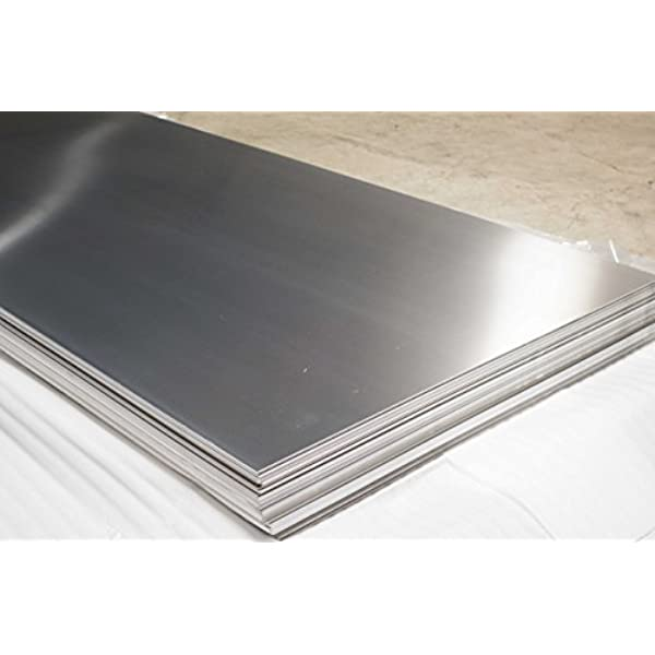 Amazon Com 2 Pieces Of 430 Stainless Steel Sheets 24ga 48 X 96 Brushed Finish Industrial Scientific