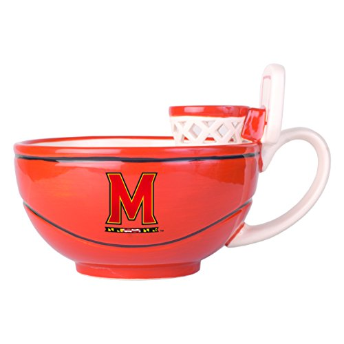 NCAA Maryland Terrapins MAX'IS Basketball Hoop Mug, 16-ounce, Orange (Terps Basketball)