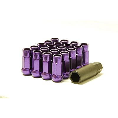 Muteki 32905L SR Series Purple 12mm x 1.25mm SR48 Open End Lug Nut Set, (Set of 20): Automotive