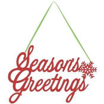 Happy Holidays Glitter Sign