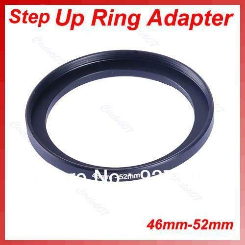 SAUJNN 1 Set 5pcs/lot Metal 46mm-52mm Step Up Lens Filter Ring 46-52 mm 46 to 52 Stepping Adapter
